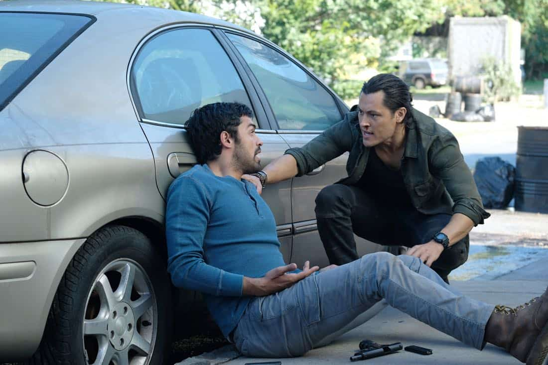 "THE GIFTED:  L-R:  Sean Teale and Blair Redford in the ""eXit strategy"" episode of THE GIFTED airing Monday, Oct. 23 (9:00-10:00 PM ET/PT) on FOX.  ©2017 Fox Broadcasting Co.  Cr:  Eliza Morse/FOX"