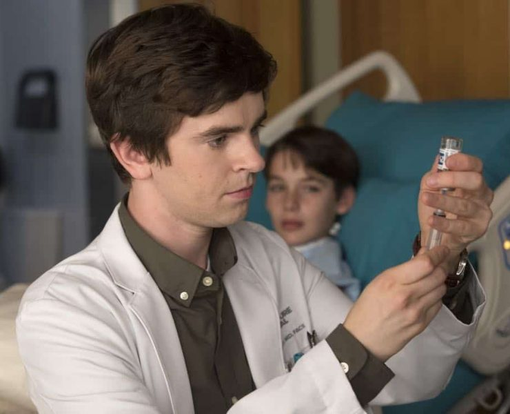 """THE GOOD DOCTOR - """"Point Three Percent"""" - While in the exam area of St. Bonaventure Hospital, Dr. Shaun Murphy encounters a young patient who looks eerily similar to his deceased brother, Steve. After discovering his parents have hidden his diagnosis from him, Shaun struggles to understand why he doesn't deserve to hear the truth about his own health. Meanwhile, the team can't figure out what keeps triggering their patients' increasingly severe allergic reactions and races to find the cause before the next one kills another patient. """"The Good Doctor"""" airs MONDAY, OCTOBER 23 (10:01-11:00 p.m. EDT), on The ABC Television Network. (ABC/Jack Rowand) FREDDIE HIGHMORE, DYLAN KINGWELL"""