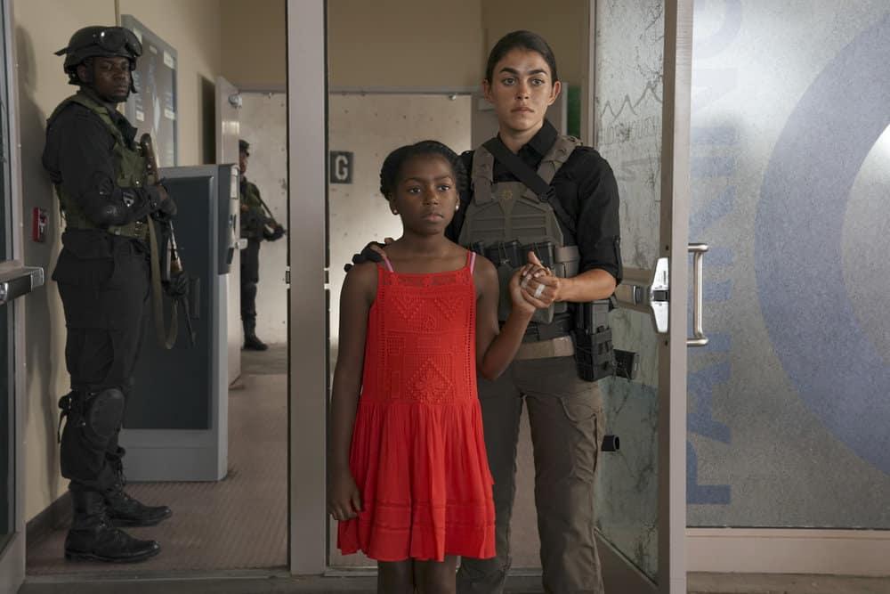 "THE BRAVE -- ""Enhanced Interrogation"" Episode 105 -- Pictured: Natacha Karam asSergeant Jasmine ""Jaz"" Khan -- (Photo by: Ursula Coyote/NBC)"