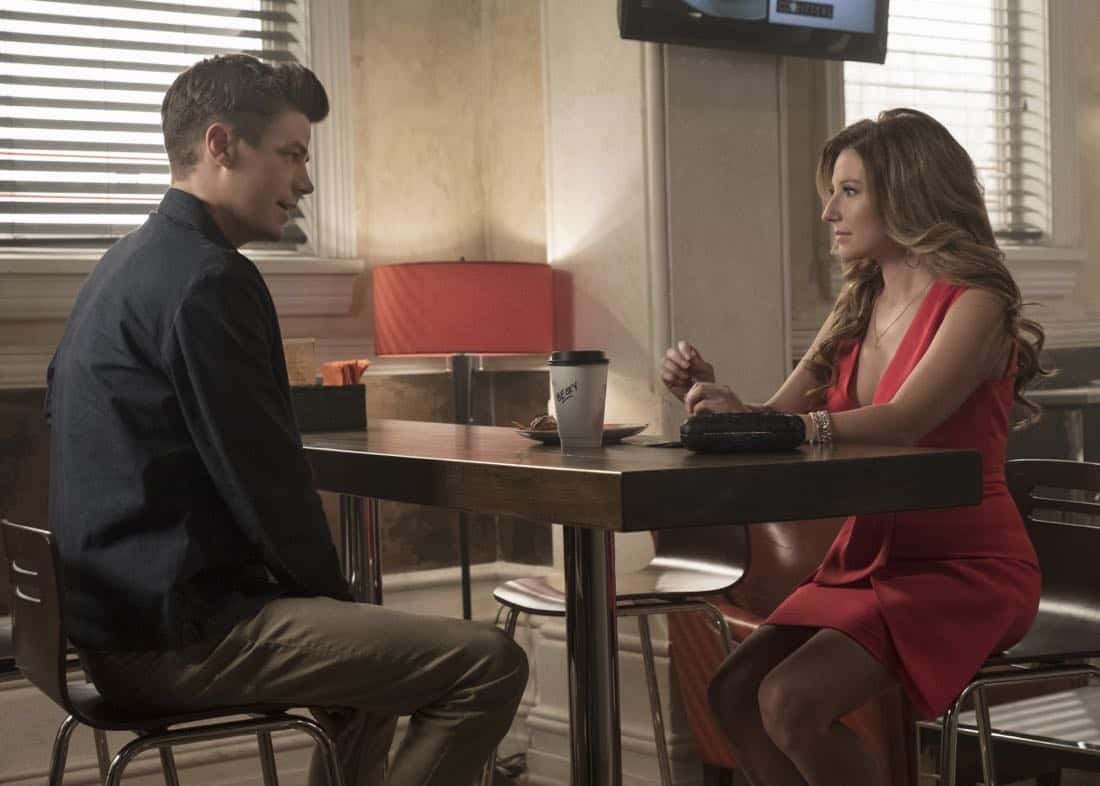 "The Flash -- ""Luck Be a Lady"" -- Image Number: FLA403b_0129.jpg -- Pictured (L-R): Grant Gustin as Barry Allen and Sugar ñ Lyn Beard as Becky/Hazard ñ Photo: Katie Yu/The CW -- © 2017 The CW Network, LLC. All rights reserved."