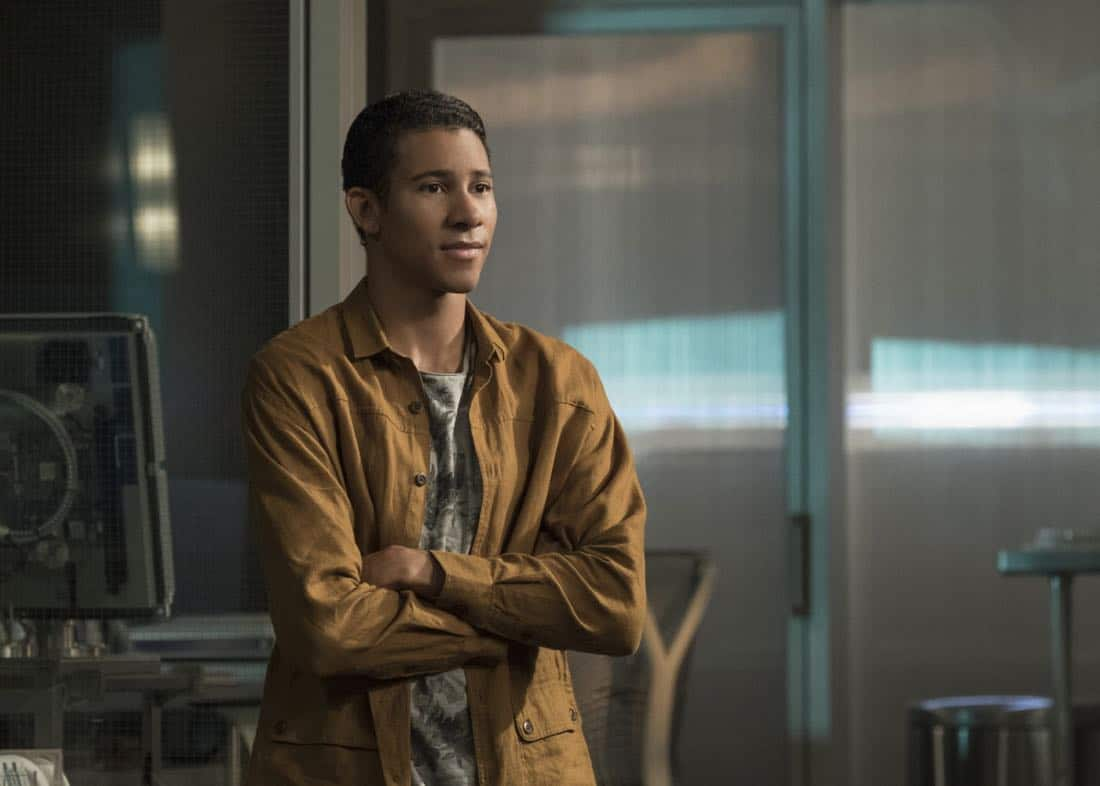"The Flash -- ""Luck Be a Lady"" -- Image Number: FLA403b_0205bc.jpg -- Pictured: Keiynan Lonsdale as Wally West ñ Photo: Katie Yu/The CW -- © 2017 The CW Network, LLC. All rights reserved."