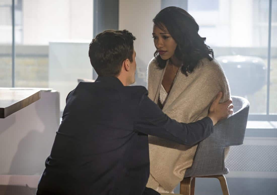 "The Flash -- ""Luck Be a Lady"" -- Image Number: FLA403a_0016b.jpg -- Pictured (L-R): Grant Gustin as Barry Allen and Candice Patton as Iris West -- Photo: Robert Falconer/The CW -- © 2017 The CW Network, LLC. All rights reserved."
