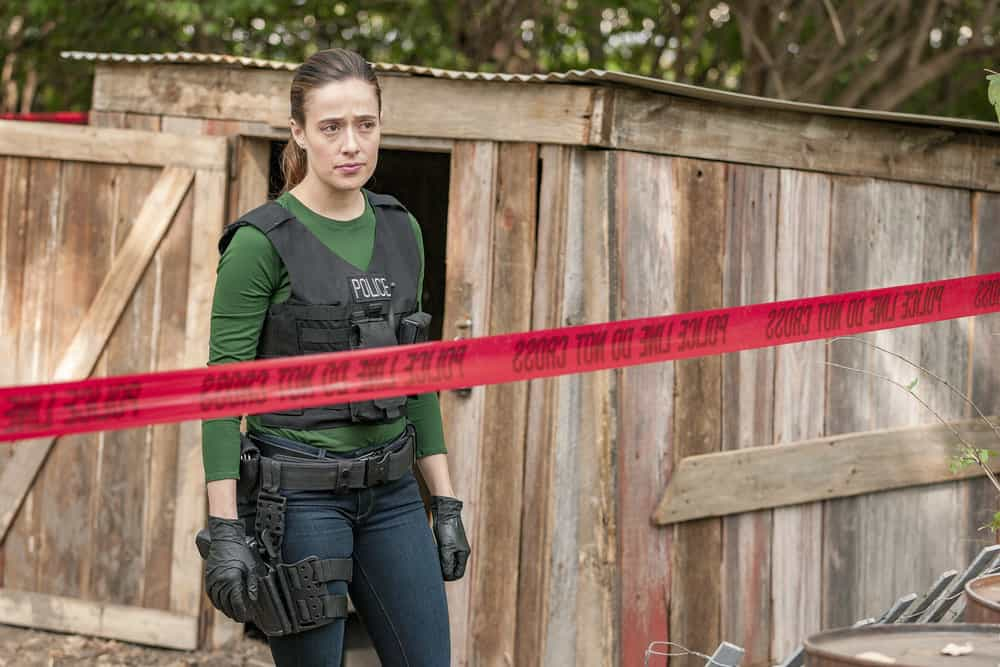 "CHICAGO P.D. -- ""Home"" Episode 505 -- Pictured: Marina Squerciati as Kim Burgess -- (Photo by: Matt Dinerstein/NBC)"