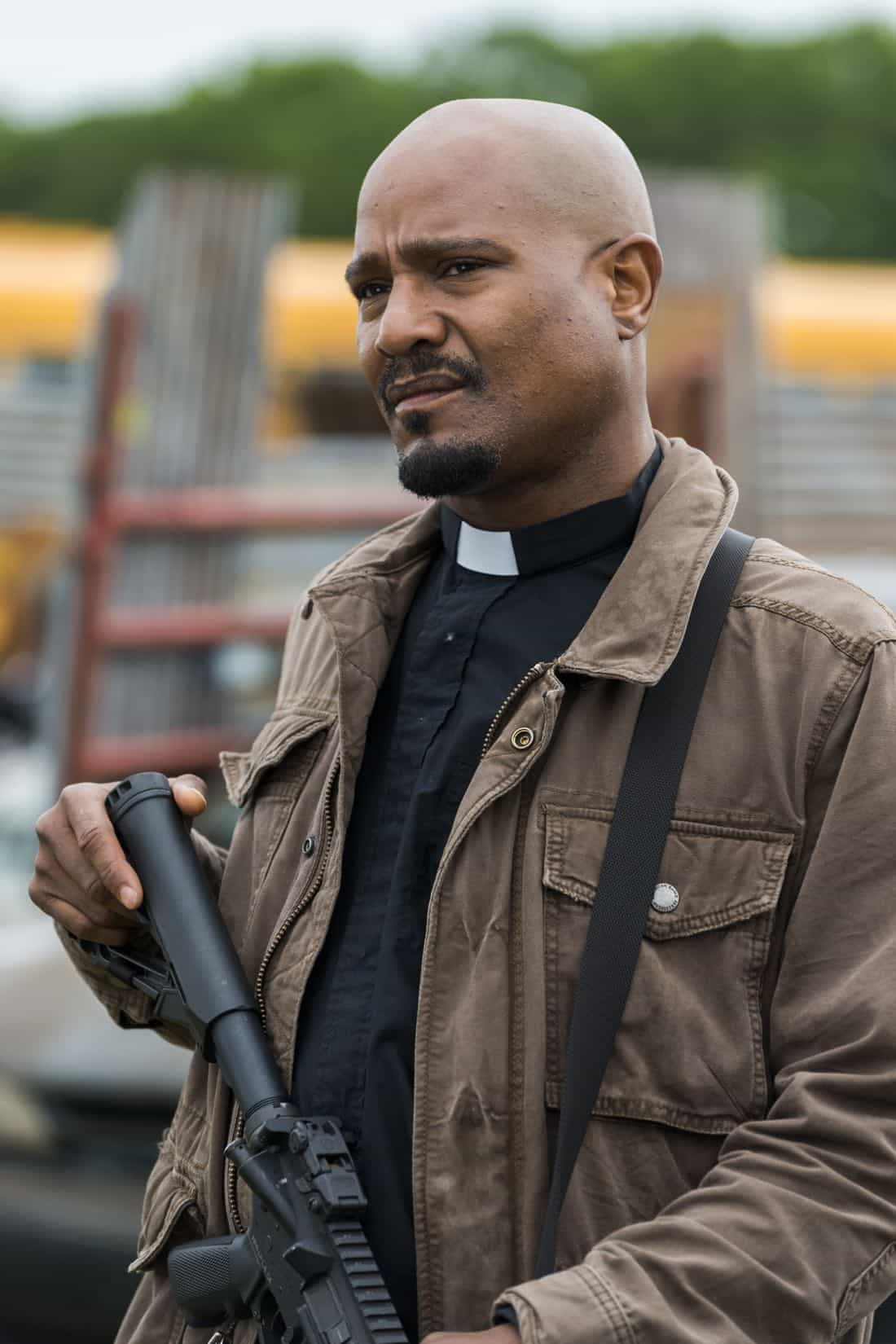Seth Gilliam as Father Gabriel Stokes - The Walking Dead _ Season 8, Episode 1 - Photo Credit: Gene Page/AMC