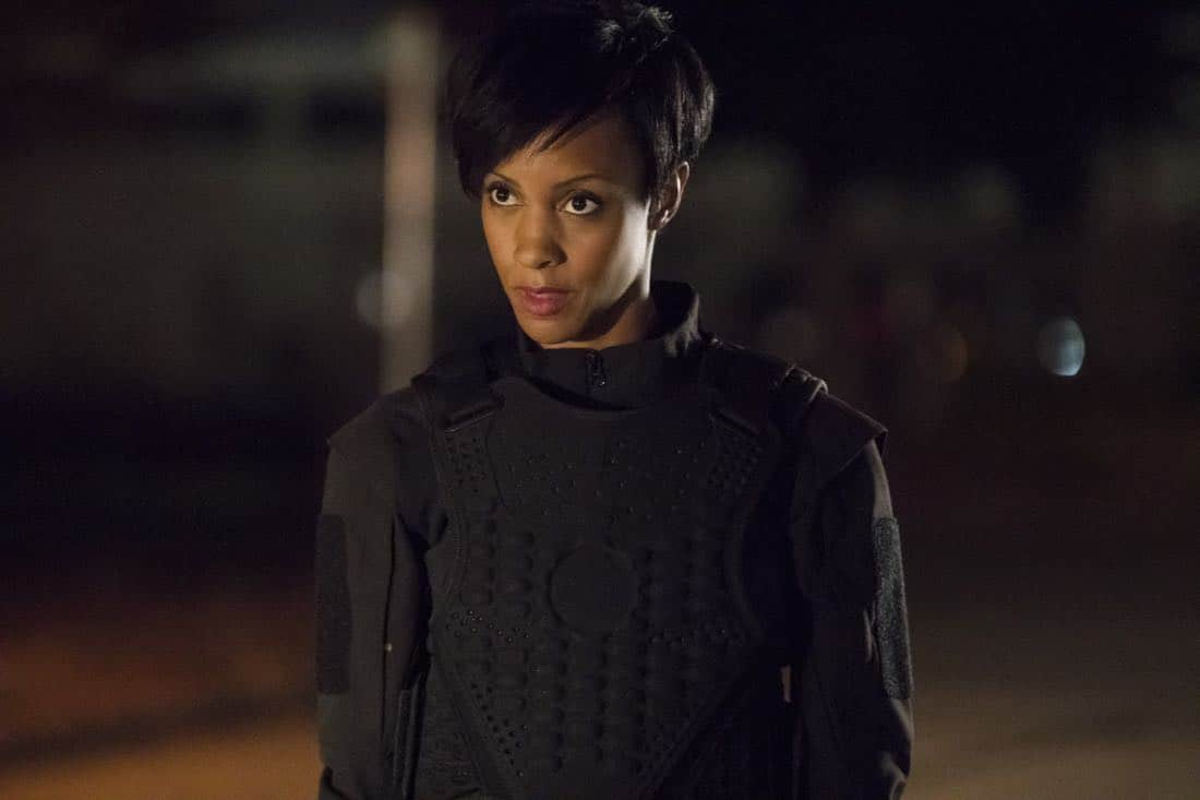 "Arrow -- ""Next of Kin"" -- Image AR603b_0302b.jpg -- Pictured: Chastity Dotson as Onyx Adams -- Photo: Jack Rowand/The CW -- © 2017 The CW Network, LLC. All Rights Reserved."