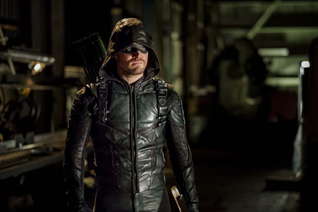 "Arrow -- ""Tribute"" -- Image AR602b_0055b.jpg -- Pictured: Stephen Amell as Oliver Queen/The Green Arrow -- Photo: Robert Falconer/The CW -- © 2017 The CW Network, LLC. All Rights Reserved."