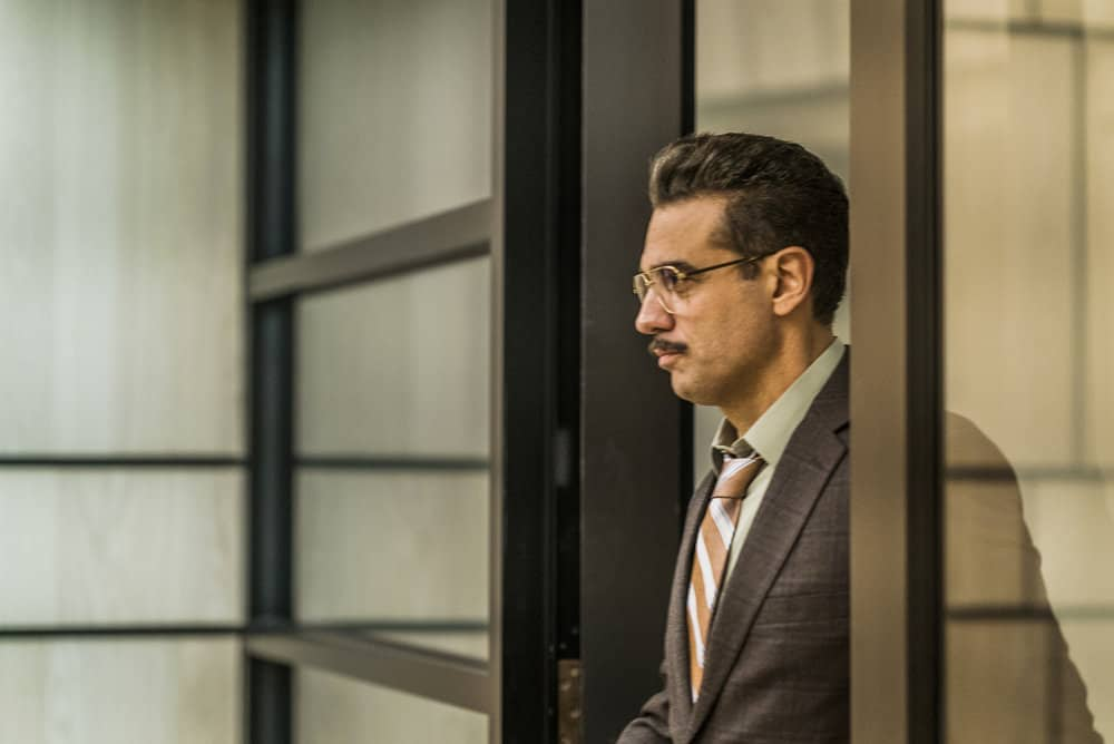 "MR. ROBOT -- ""eps3.2_legacy.so"" Episode 303 -- Pictured: Bobby Cannavale as Irving -- (Photo by: Michael Parmelee/USA Network)"