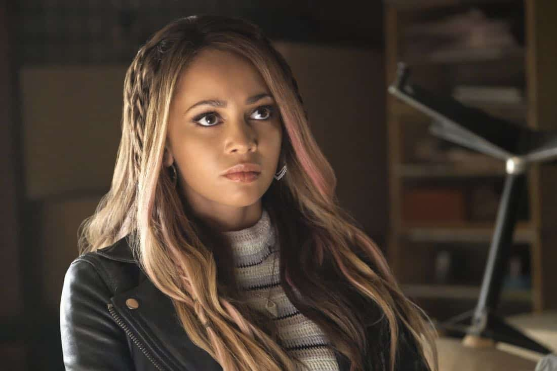 "Riverdale -- ""Chapter Sixteen: The Watcher in the Woods"" -- Image Number: RVD203b_0335 -- Pictured: Vanessa Morgan as Toni Topaz -- Photo: Bettina Strauss /The CW -- © 2017 The CW Network. All Rights Reserved"