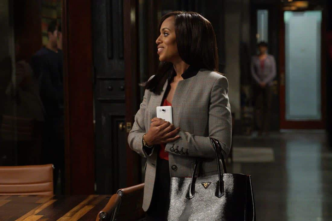 "SCANDAL - ""Lost Girls"" - While Liv is busy running the free world, the team at QPA works with an unexpected client to solve an important case. At the White House, Mellie prepares for the upcoming Nuclear Summit with President Rashad and Prime Minister Nazari, on ""Scandal,"" airing THURSDAY, OCTOBER 26 (9:00-10:00 p.m. EDT), on The ABC Television Network. (ABC/Richard Cartwright) KERRY WASHINGTON"
