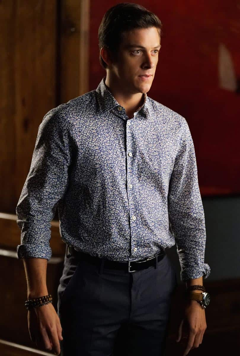 "Dynasty -- ""Guilt is for Insecure People"" -- Image Number: DYN103a_0543.jpg -- Pictured: James Mackay as Steven -- Photo: Quantrell D. Colbert/The CW -- © 2017 The CW Network, LLC. All Rights Reserved."