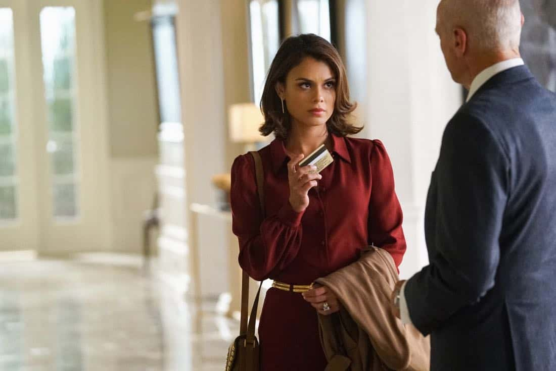 "Dynasty -- ""Guilt is for Insecure People"" -- Image Number: DYN103a_0637.jpg -- Pictured (L-R): Nathalie Kelley as Cristal and Alan Dale as Anders -- Photo: Quantrell D. Colbert/The CW -- © 2017 The CW Network, LLC. All Rights Reserved."