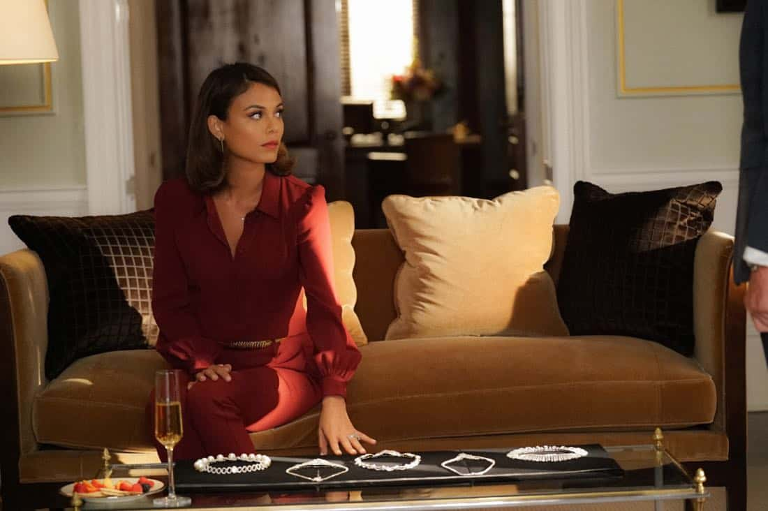 "Dynasty -- ""Guilt is for Insecure People"" -- Image Number: DYN103a_0912.jpg -- Pictured: Nathalie Kelley as Cristal -- Photo: Quantrell D. Colbert/The CW -- © 2017 The CW Network, LLC. All Rights Reserved."