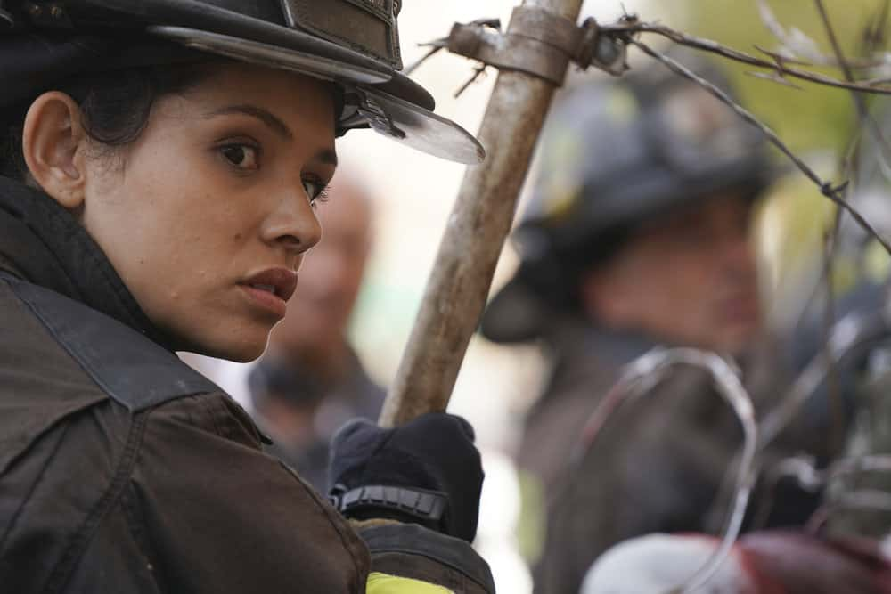 "CHICAGO FIRE -- ""Devil's Bargain"" Episode 605 -- Pictured: Miranda Rae Mayo as Stella Kidd -- (Photo by: Elizabeth Morris/NBC)"