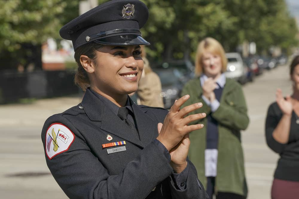 "CHICAGO FIRE -- ""A Breaking Point"" Episode 604 -- Pictured: Monica Raymund as Gabriela Dawson -- (Photo by: Elizabeth Morris/NBC)"