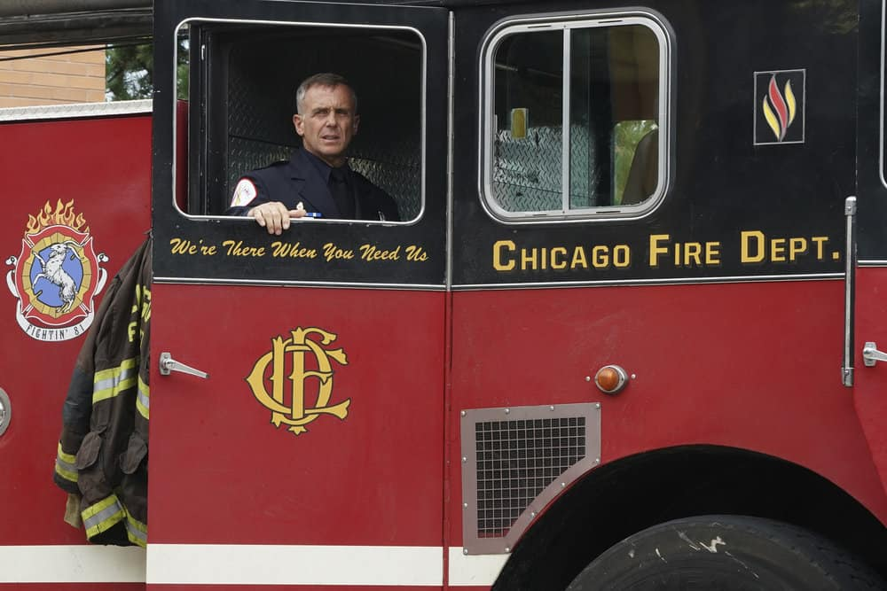 "CHICAGO FIRE -- ""A Breaking Point"" Episode 604 -- Pictured: David Eigenberg as Christopher Herrmann -- (Photo by: Elizabeth Morris/NBC)"