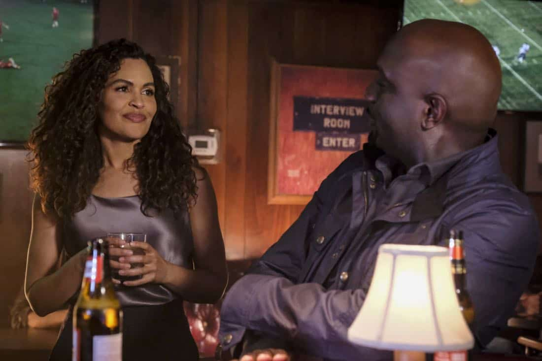 """Clear History"" -- Pictured: Ion Overman as Elena Ruiz and Richard T. Jones as Detective Tommy Cavanaugh. Tanner's previous company claims Sophe was created using their copyrighted codes and legally threatens to shut down the organization.  Also, Cavanaugh works with Tanner to solve the murder of a retired detective after his boss removes him from the case due to a personal connection with the family, on WISDOM OF THE CROWD, Sunday, Oct. 29 (8:00-9:00 PM, ET/PT), on the CBS Television Network. Photo: Darren Michaels/CBS ©2017 CBS Broadcasting, Inc. All Rights Reserved."