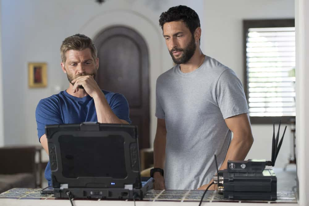 "THE BRAVE -- ""The Seville Defection"" Episode 106 -- Pictured: (l-r) Mike Vogel as Captain Adam Dalton, Noah Mills as Sergeant Joseph ""McG"" McGuire -- (Photo by: Lewis Jacobs/NBC)"