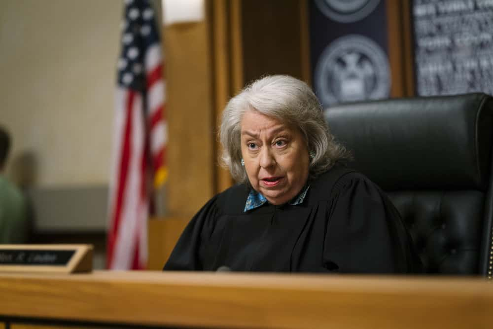 "LAW & ORDER: SPECIAL VICTIMS UNIT -- ""Complicated"" Episode 1905 -- Pictured: Jayne Houdyshell as Judge Ruth Linden -- (Photo by: Michael Parmelee/NBC)"
