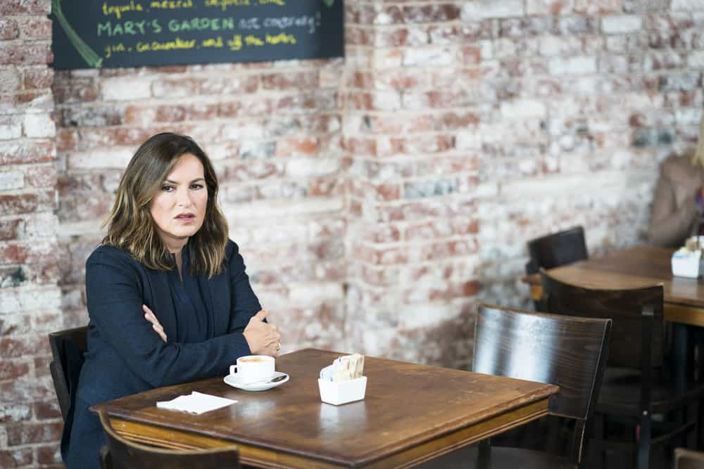 """LAW & ORDER: SPECIAL VICTIMS UNIT -- """"Complicated"""" Episode 1905 -- Pictured: Mariska Hargitay as Lieutenant Olivia Benson -- (Photo by: Michael Parmelee/NBC)"""