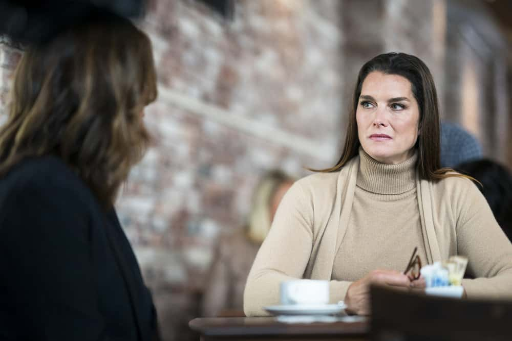 "LAW & ORDER: SPECIAL VICTIMS UNIT -- ""Complicated"" Episode 1905 -- Pictured: Brooke Shields as Sheila Porter -- (Photo by: Michael Parmelee/NBC)"
