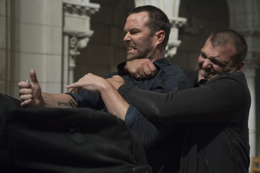 "BLINDSPOT -- ""Back to the Grind"" Episode 301 -- Pictured: Sullivan Stapleton as Kurt Weller -- (Photo by: Virginia Sherwood/NBC)"