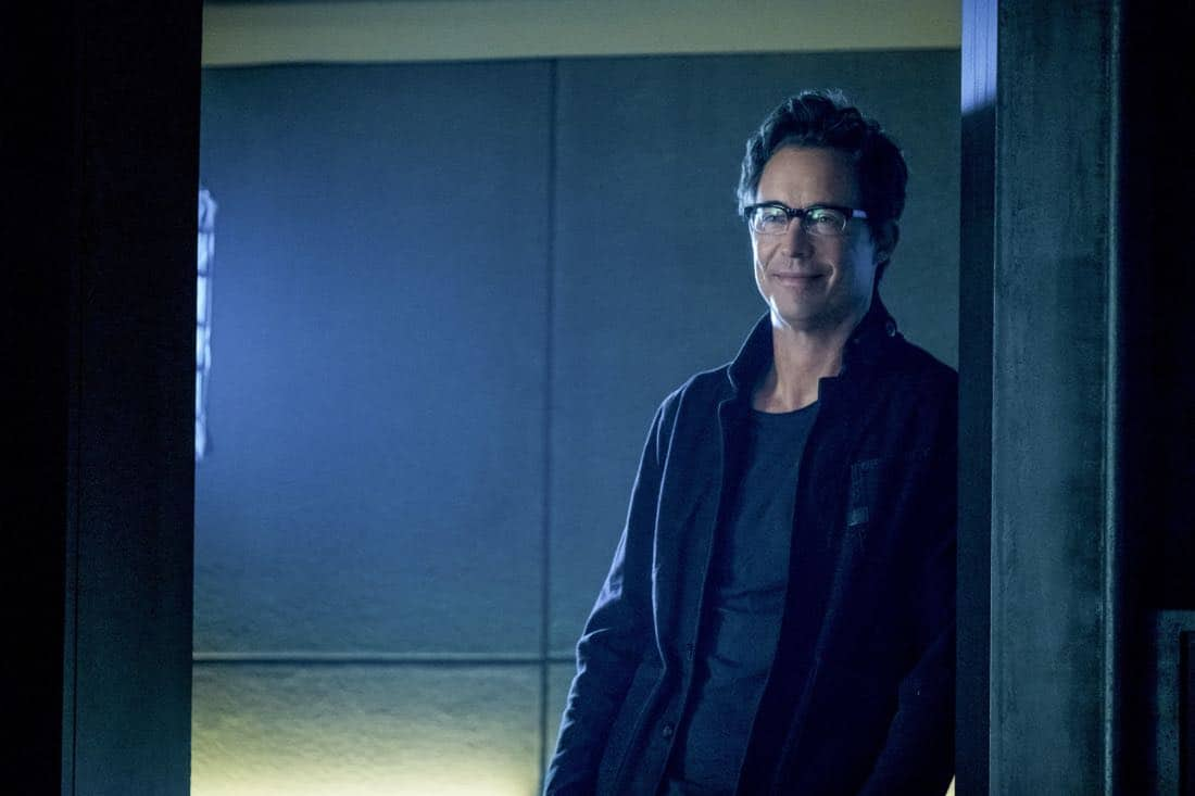 "The Flash -- ""Elongated Journey Into Night"" -- Image Number: FLA404b_0220b.jpg -- Pictured: Tom Cavanagh as Harrison Wells -- Photo: Katie Yu/The CW -- © 2017 The CW Network, LLC. All rights reserved."