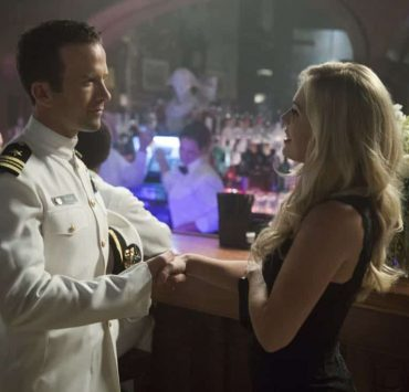"""Acceptable Loss"" -- The murder of a petty officer leads Pride and his team to a mysterious woman who is targeting men with high security clearance. Also, Lasalle's father, Beau (Michael Angelo Pniewski), arrives in town to discuss the family business, on NCIS: NEW ORLEANS, Tuesday, Oct. 31 (10:00-11:00 PM, ET/PT) on the CBS Television Network. Pictured L-R: Lucas Black as Special Agent Christopher LaSalle and Natalie Hall as Chloe Miles Photo: Sam Lothridge/CBS ©2017 CBS Broadcasting, Inc. All Rights Reserved"