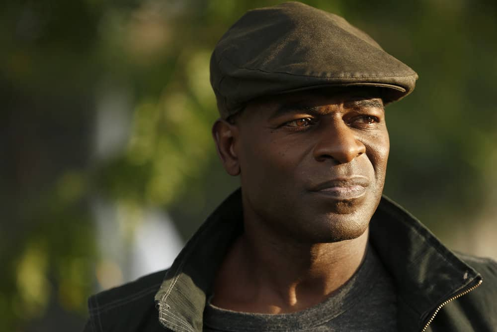"THE BLACKLIST -- ""The Travel Agency"" Episode 506 -- Pictured: Hisham Tawfiq as Dembe Zuma -- (Photo by: Will Hart/NBC)"