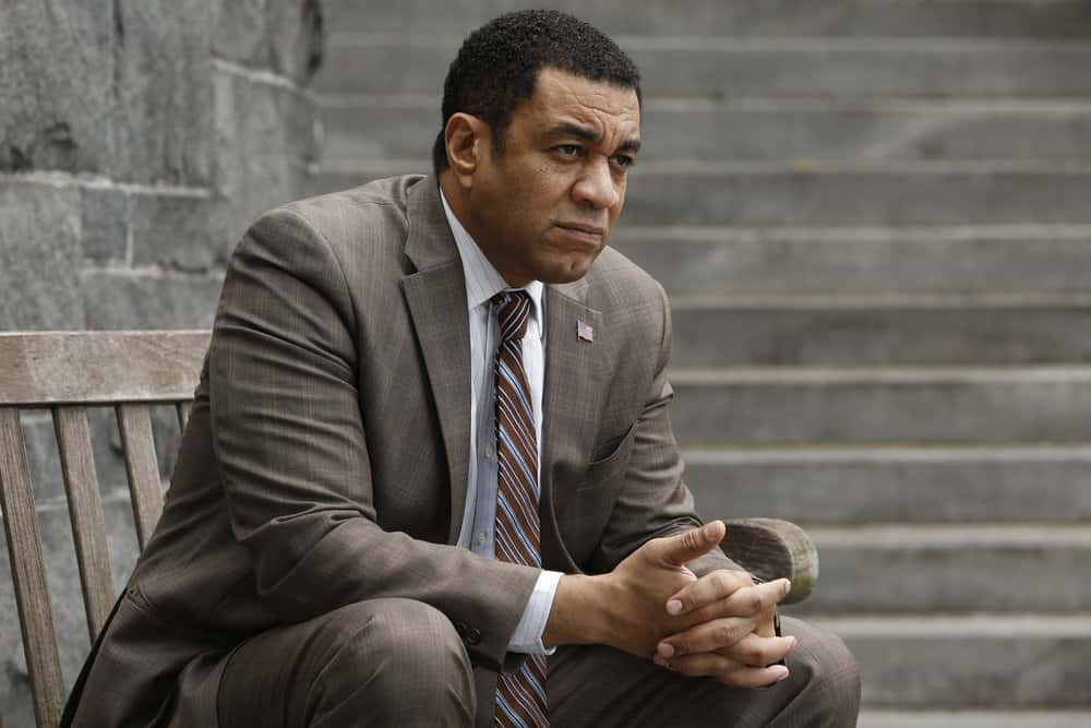 "THE BLACKLIST -- ""The Travel Agency"" Episode 506 -- Pictured: Harry Lennix as Harold Cooper -- (Photo by: Will Hart/NBC)"