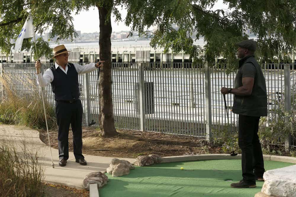 "THE BLACKLIST -- ""The Travel Agency"" Episode 506 -- Pictured: (l-r) James Spader as Raymond ""Red"" Reddington, Hisham Tawfiq as Dembe Zuma -- (Photo by: Will Hart/NBC)"