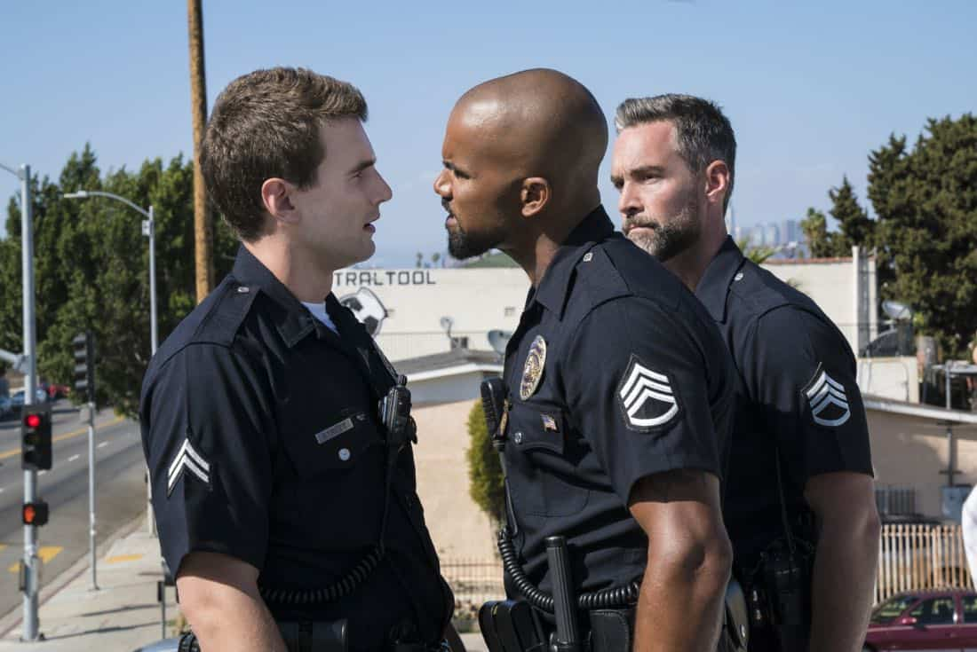 """Pilot"" -- A locally born SWAT sergeant, former Marine Daniel ""Hondo"" Harrelson (Shemar Moore), is newly tasked to run a specialized tactical unit that is the last stop in law enforcement in Los Angeles, on the series premiere of S.W.A.T., Thursday, Nov. 2 (10:00-11:00, ET/PT) on the CBS Television Network. Shemar Moore, Stephanie Sigman, Alex Russell, Jay Harrington, Lina Esco, Kenny Johnson, Peter Onorati and David Lim star in the police drama inspired by the television series and feature film. Pictured left to right: Alex Russell as Jim Street, Shemar Moore as Daniel ""Hondo"" Harrelson, and Jay Harrington as David ""Deacon"" Kay.     Photo: Bill Inoshita/CBS ©2017 CBS Broadcasting, Inc. All Rights Reserved"