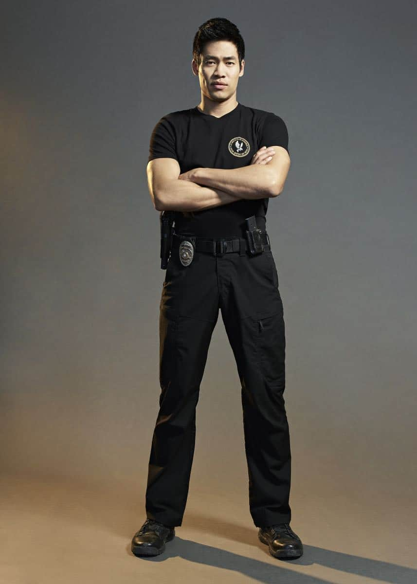 David Lim of the CBS series S.W.A.T. Photo: Smallz + Raskind/Sony Pictures Television © 2017 Sony Pictures Television