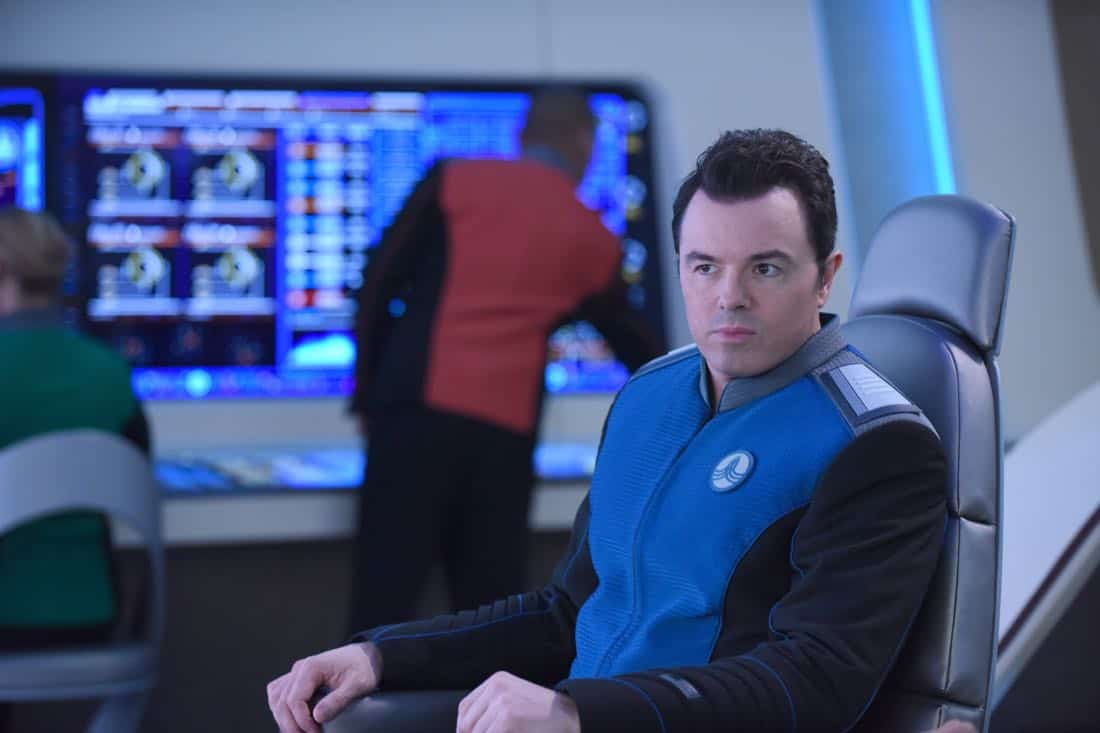 "THE ORVILLE:  Seth MacFarlane in the ""Majority Rule"" episode of THE ORVILLE airing Thursday, Oct. 26 (9:01-10:00 PM ET/PT) on FOX.  ©2017 Fox Broadcasting Co. Cr: Ray Mickshaw/FOX"