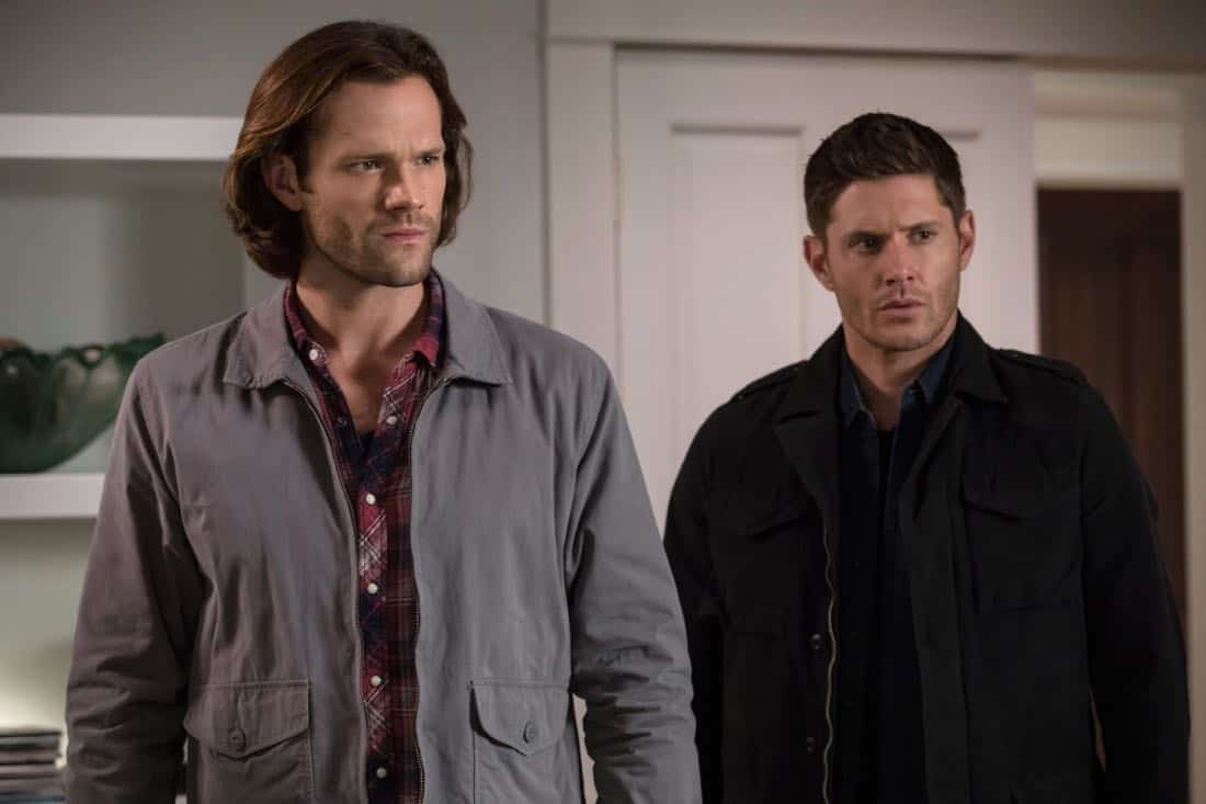 """Supernatural -- """"The Big Empty"""" -- Image Number: SN1304b_0444b.jpg -- Pictured (L-R): Jared Padalecki as Sam and Jensen Ackles as Dean -- Photo: Jack Rowand/The CW -- © 2017 The CW Network, LLC All Rights Reserved."""