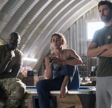 "THE BRAVE -- ""It's All Personal"" Episode 107 -- Pictured: (l-r) Demetrius Grosse as CPO Ezekiel ""Preach"" Carter, Natacha Karam as Sergeant Jasmine ""Jaz"" Khan, Noah Mills as Sergeant Joseph ""McG"" McGuire -- (Photo by: Lewis Jacobs/NBC)"