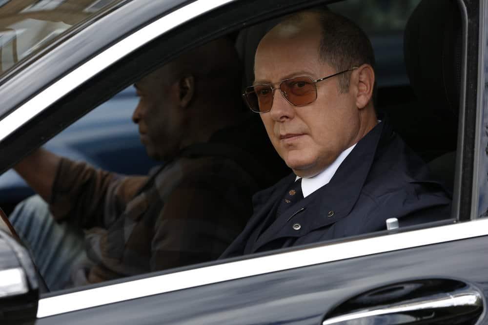 "THE BLACKLIST -- ""The Kilgannon Corp. (#48)"" Episode 507 -- Pictured: (l-r) Hisham Tawfiq as Dembe Zuma, James Spader as Raymond ""Red"" Reddington -- (Photo by: Will Hart/NBC)"