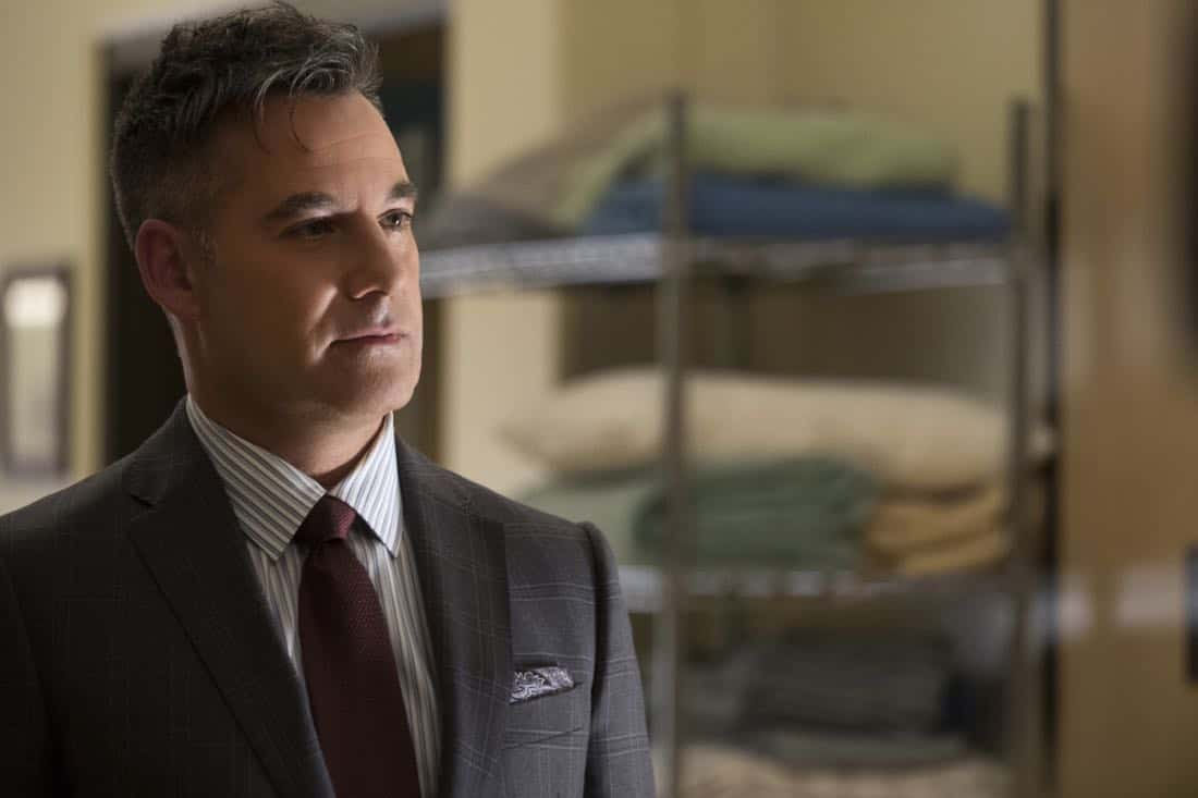 """Supergirl -- """"Damage"""" -- SPG305b_0015.jpg -- Pictured: Adrian Pasdar as Morgan Edge -- Photo: Jeff Weddell/The CW -- © 2017 The CW Network, LLC. All Rights Reserved"""