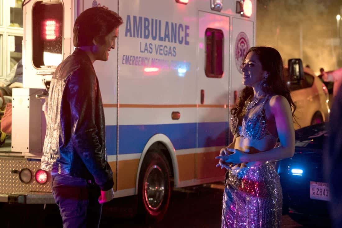 """LUCIFER: L-R: Guest star Jack Yang and Aimee Garcia in the """"Vegas With Some Radish"""" episode of LUCIFER airing Monday, Nov. 6 (8:00-9:00 PM ET/PT) on FOX. CR: Michael Courtney/FOX"""