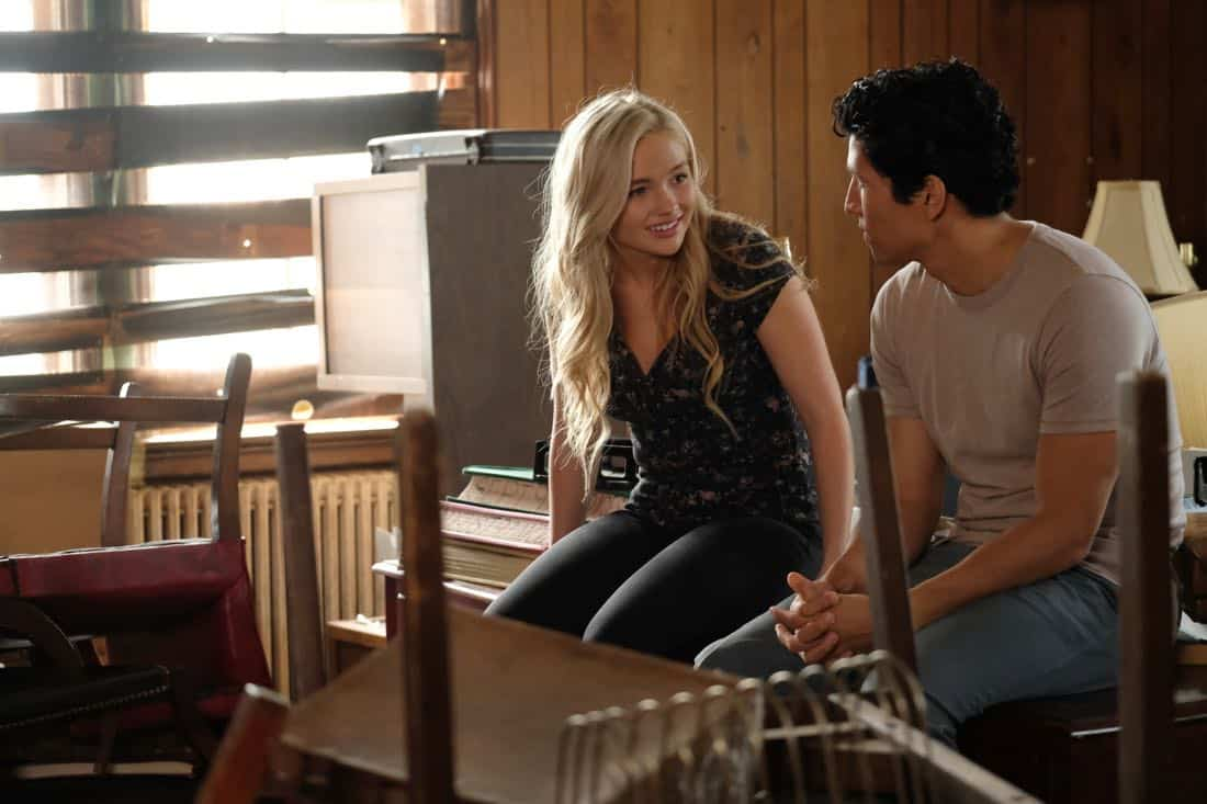 """THE GIFTED:  L-R:  Natalie Alyn Lind and guest star Danny Ramirez in the """"got your siX"""" episode of THE GIFTED airing Monday, Nov. 6 (9:00-10:00 PM ET/PT) on FOX.  ©2017 Fox Broadcasting Co.  Cr:  Eliza Morse/FOX"""
