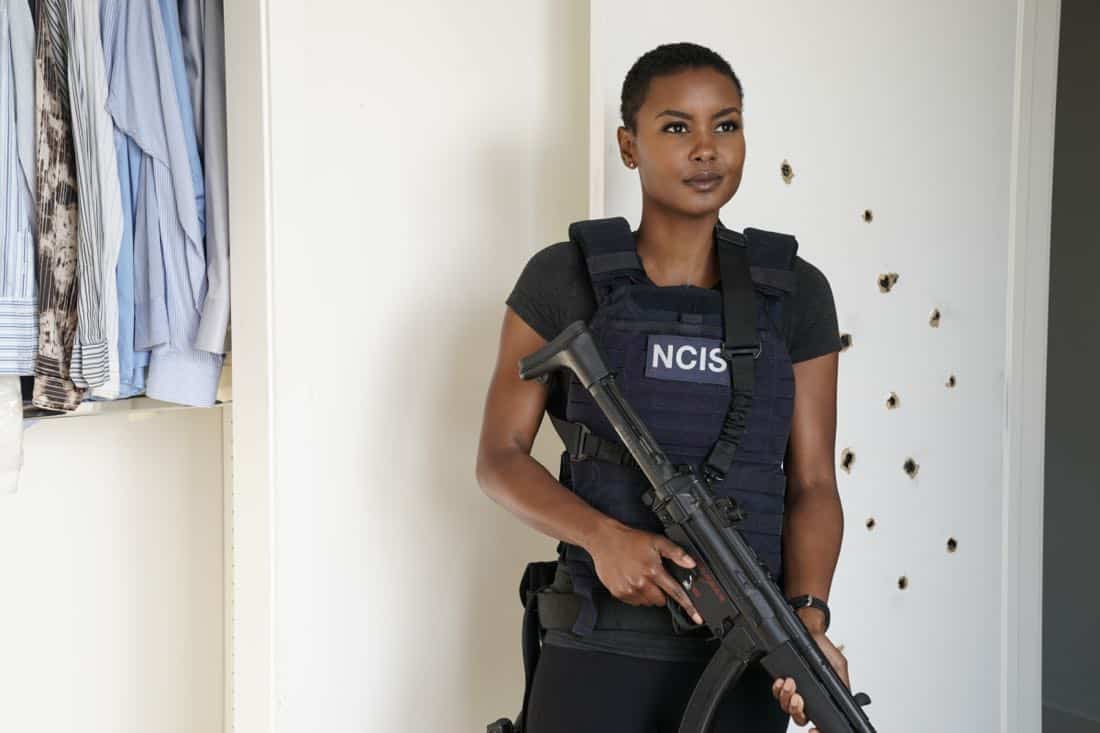 """""""The Silo"""" – Pictured: Andrea Bordeaux (NCIS Special Agent Harley Hidoko). After an Air Force captain Kensi dated a decade ago breaches a missile launch facility, she is transported to the location to help thwart the use of nuclear weapons, on NCIS: LOS ANGELES, Sunday, Nov. 12 (9:00-10:00 PM, ET/PT) on the CBS Television Network. Photo: Erik Voake/CBS ©2017 CBS Broadcasting, Inc. All Rights Reserved."""