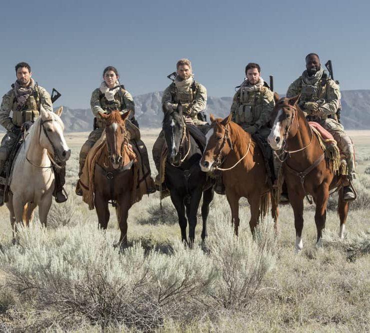 "THE BRAVE -- ""Stealth"" Episode 108 -- Pictured: (l-r) Noah Mills as Sergeant Joseph ""McG"" McGuire, Natacha Karam as Sergeant Jasmine ""Jaz"" Khan, Mike Vogel as Captain Adam Dalton, Hadi Tabbal as Agent Amir Al-Raisani, Demetrius Grosse as CPO Ezekiel ""Preach"" Carter -- (Photo by: Lewis Jacobs/NBC)"