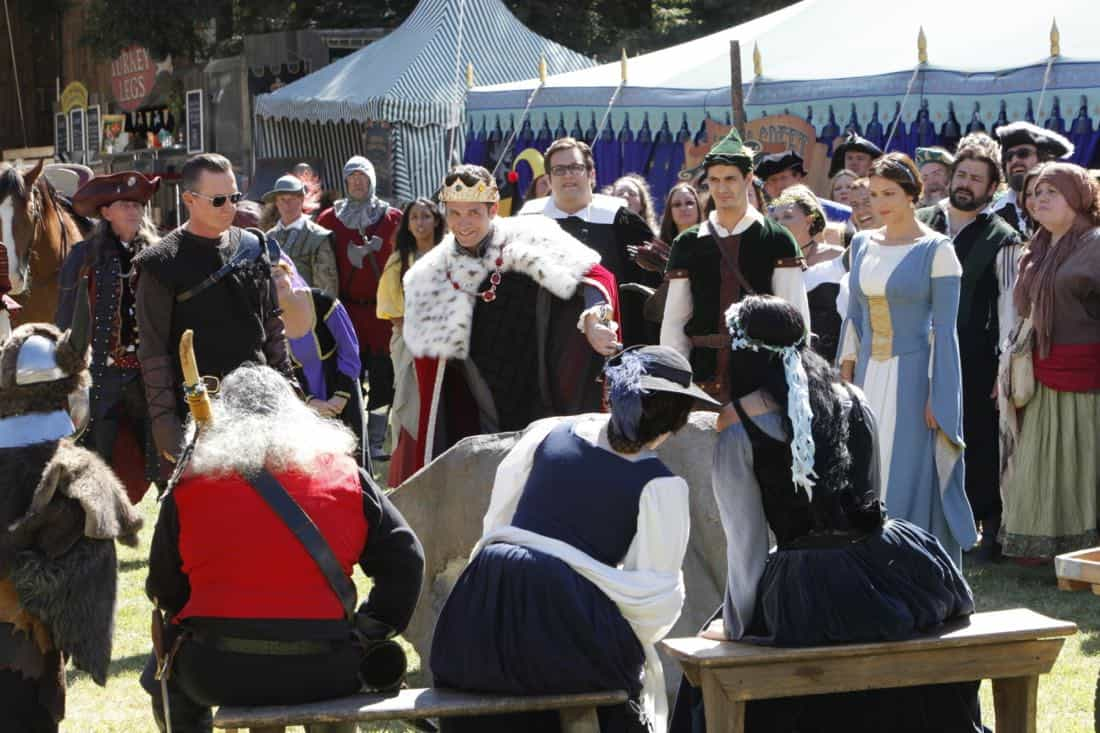 """Faire is Foul"" -- For Sylvester's birthday, Team Scorpion visits a renaissance festival, but the revelry is cut short when a group tries to rob a nearby police evidence locker. Also, Paige grows weary of Walter's play-by-play of all the historical inaccuracies at the festival, on SCORPION, Monday, Nov. 13 (10:00-11:00 PM, ET/PT) on the CBS Television Network. Pictured: Robert Patrick, Ari Stidham, Brandon Barash, Elyes Gabel, Katharine McPhee.   Photo: Bill Inoshita/CBS ©2017 CBS Broadcasting, Inc. All Rights Reserved"