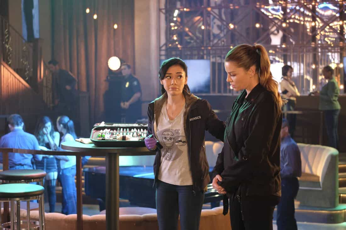"LUCIFER: L-R: Aimee Garcia and Lauren German in the ""Off The Record"" episode of LUCIFER airing Monday, Nov. 13 (8:00-9:00 PM ET/PT) on FOX. CR:  Michael Courtney/FOX"