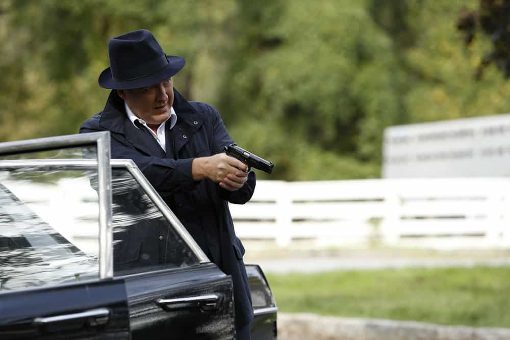 """THE BLACKLIST -- """"Ian Garvey: #13"""" Episode 508 -- Pictured: James Spader as Raymond """"Red"""" Reddington -- (Photo by: Will Hart/NBC)"""
