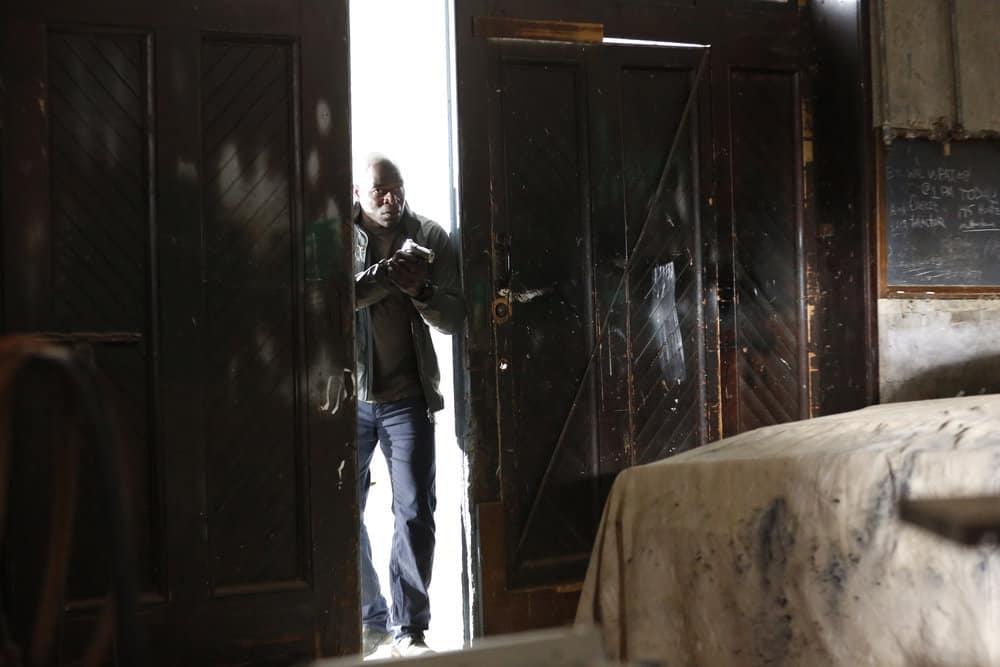 "THE BLACKLIST -- ""Ian Garvey: #13"" Episode 508 -- Pictured: Hisham Tawfiq as Dembe Zuma -- (Photo by: Will Hart/NBC)"