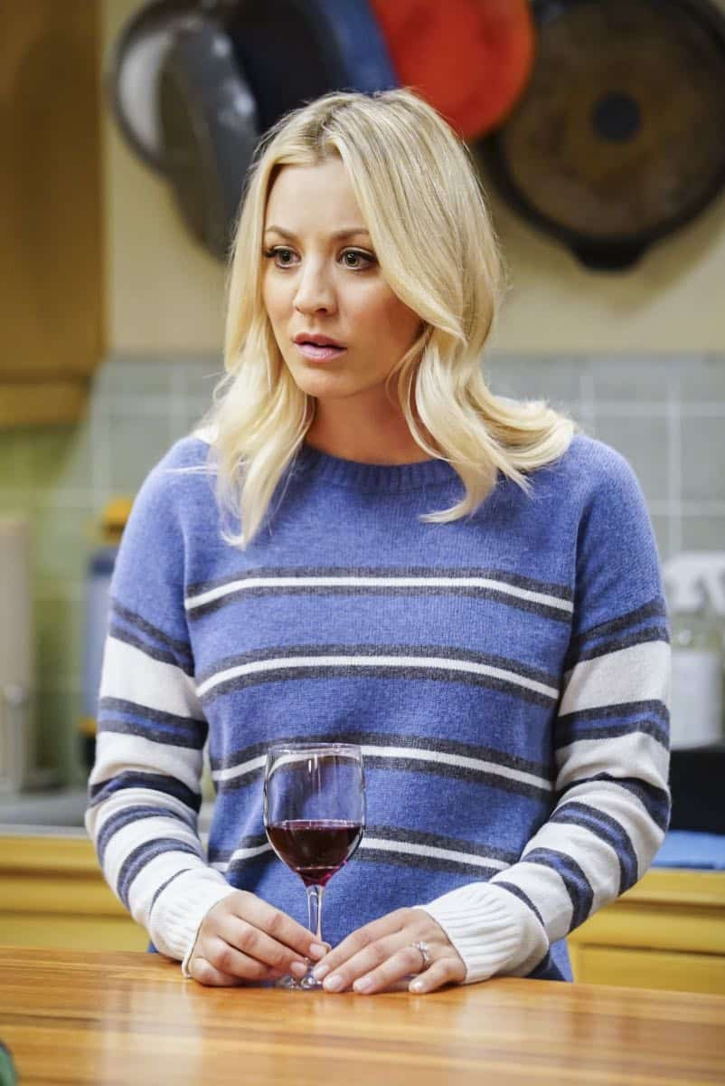 """""""The Tesla Recoil"""" -- Pictured: Penny (Kaley Cuoco). Leonard and Wolowitz are furious after they learn Sheldon went to work with the military behind their backs. Also, while Bernadette is on bed rest, she asks Raj to do some digging when she suspects Ruchi is trying to steal her job, on THE BIG BANG THEORY, Thursday, Nov. 16 (8:00-8:31 PM, ET/PT) on the CBS Television Network. Photo: Sonja Flemming/CBS ©2017 CBS Broadcasting, Inc. All Rights Reserved."""
