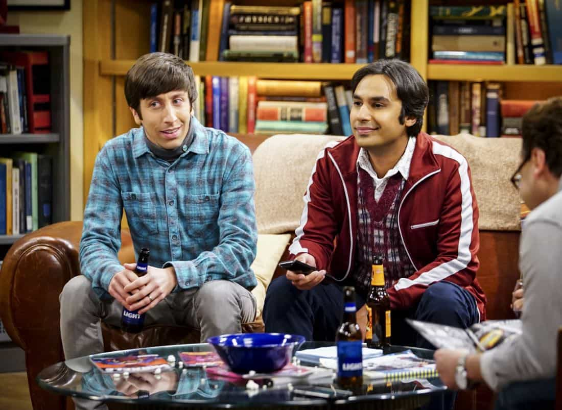 """""""The Tesla Recoil"""" -- Pictured: Howard Wolowitz (Simon Helberg) and Rajesh Koothrappali (Kunal Nayyar). Leonard and Wolowitz are furious after they learn Sheldon went to work with the military behind their backs. Also, while Bernadette is on bed rest, she asks Raj to do some digging when she suspects Ruchi is trying to steal her job, on THE BIG BANG THEORY, Thursday, Nov. 16 (8:00-8:31 PM, ET/PT) on the CBS Television Network. Photo: Sonja Flemming/CBS ©2017 CBS Broadcasting, Inc. All Rights Reserved."""