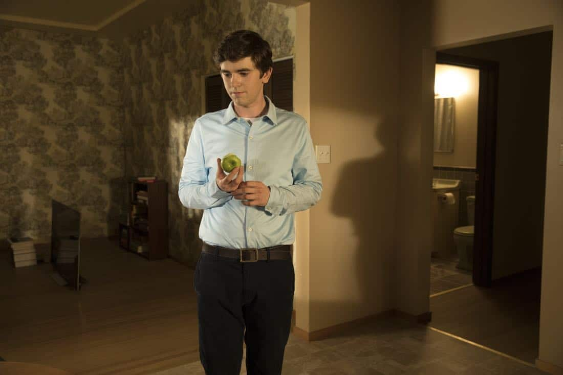 """THE GOOD DOCTOR - """"Apple"""" - During a robbery at the grocery mart Dr. Shaun Murphy is shopping at, his communication limitations puts lives at risk. Meanwhile, after Shaun's traumatic day, Dr. Aaron Glassman worries that he isn't doing enough to help Shaun, on """"The Good Doctor,"""" MONDAY, NOV. 20 (10:01-11:00 p.m. EST), on The ABC Television Network. (ABC/Jack Rowand) FREDDIE HIGHMORE"""
