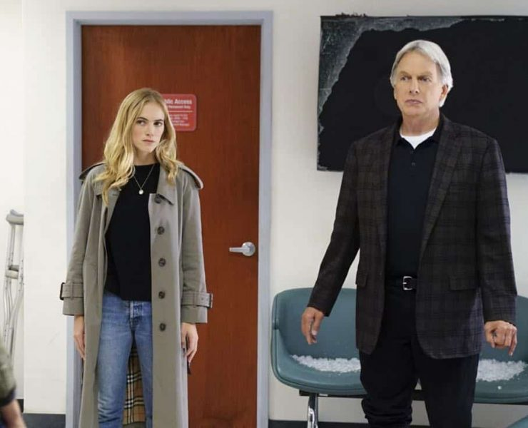 """Ready or Not"" -- The team's Thanksgiving plans are put on hold while they track an elusive international arms dealer in D.C. who recently murdered an MI6 officer who was Sloane's close friend. Also, Abby races Delilah (Margo Harshman) to the hospital when her labor starts three weeks early, on NCIS, Tuesday, Nov. 21 (8:00-9:00 PM, ET/PT) on the CBS Television Network.Pictured: Emily Wickersham , Mark Harmon. Photo: Sonja Flemming/CBS ©2017 CBS Broadcasting, Inc. All Rights Reserved"
