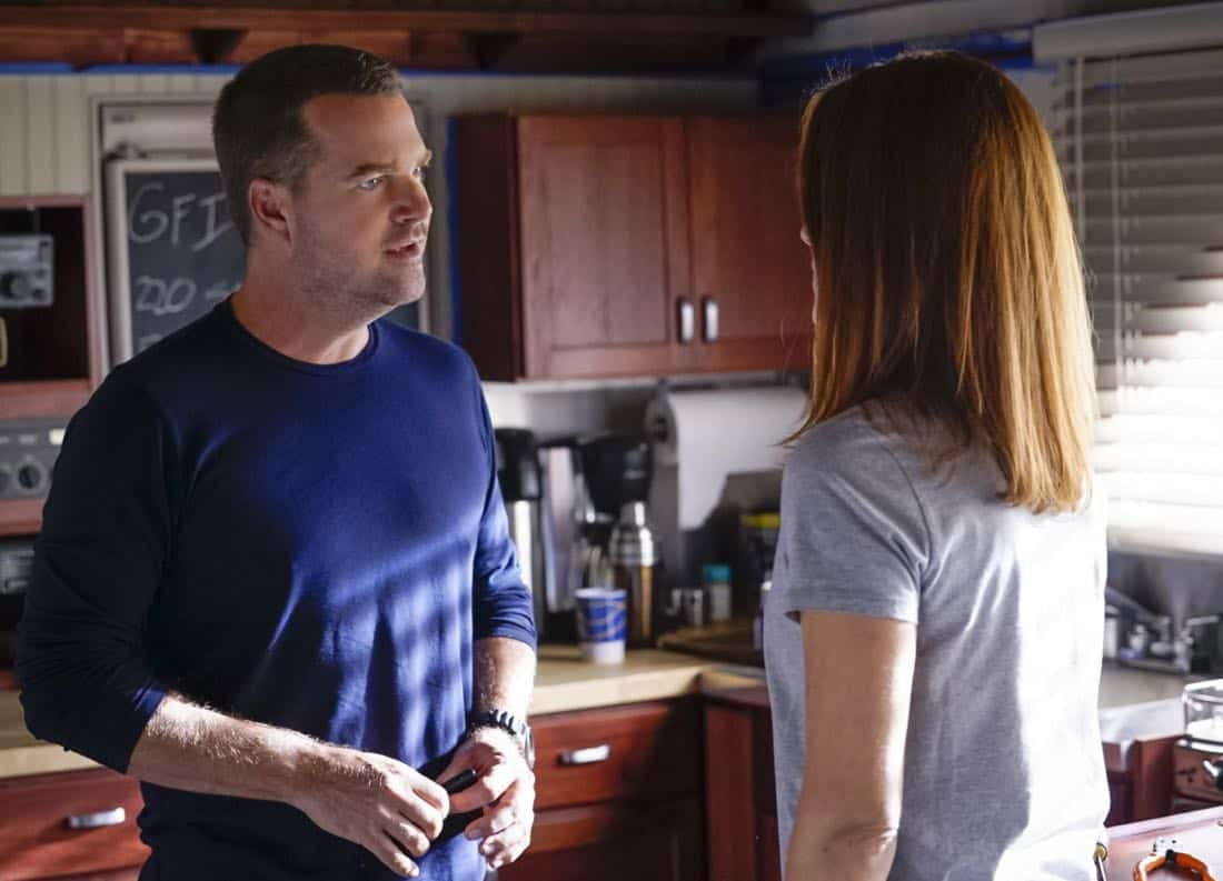 """""""Fool Me Twice"""" -- Pictured: Chris O'Donnell (Special Agent G. Callen). Callen and the team question CIA Agent Joelle Taylor's (Elizabeth Bogush) backstory after she escapes from a kidnapping and turns to Callen for help, on NCIS: LOS ANGELES, Sunday, Nov. 26 (9:30-10:30 PM, ET/9:00-10:00 PM, PT) on the CBS Television Network. Photo: Cliff Lipson/CBS ©2017 CBS Broadcasting, Inc. All Rights Reserved."""
